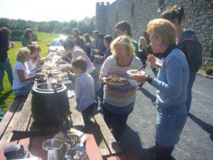 international lunch in the school's gardens web